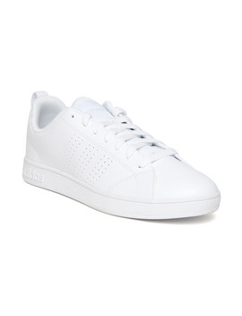 Adidas Men White Vs Advantage Clean Tennis Shoes by Adidas