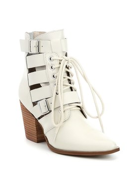 Palermo Leather Cut Out Booties by Generic