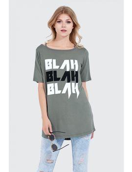 Blah Blah Blah Deconstructed T Shirt by Select