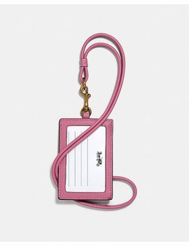 Id Lanyard With Rose Print by Coach
