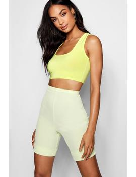 Tall High Shine Scoop Bralet by Boohoo