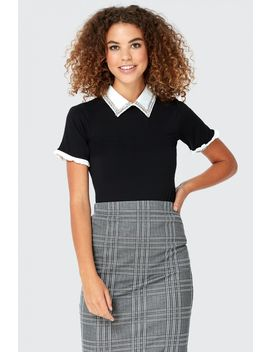 Gem Collar Polo T Shirt by Select