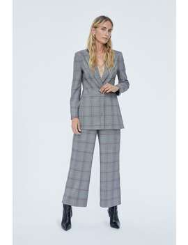 Checkered Double Breasted Blazer  Collection Monday To Friday Woman by Zara