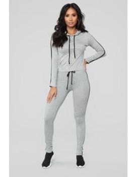 Tennis Time Long Sleeve Set   Grey by Fashion Nova