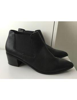 Ladies Topshop Acid Black Leather Ankle Boots Size Uk 5 by Ebay Seller