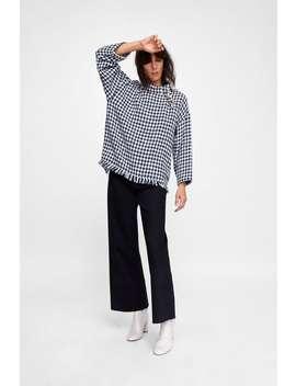 Check Tweed Top  Blouses Shirts by Zara