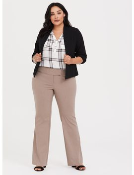 Relaxed Trouser   Taupe Millennial Stretch by Torrid