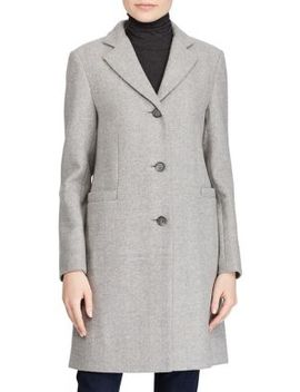 Herringbone Car Coat by Lauren Ralph Lauren