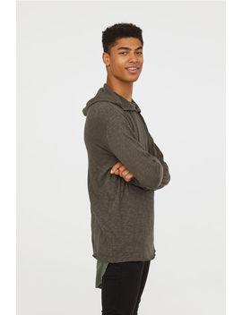 Slub Jersey Hooded Top by H&M