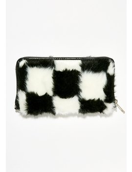 Double Check Faux Fur Wallet by Current Mood