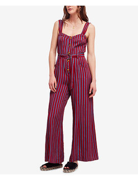 City Girl Striped Wide Leg Jumpsuit by Free People