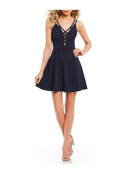 Strappy Fit And Flare Dress by Generic
