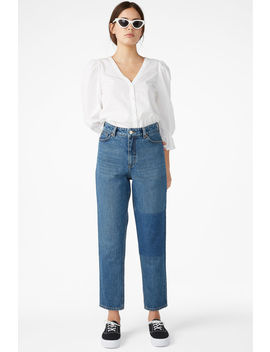 Taiki Jeans With Knee Patch by Monki