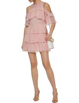 Ruffled Silk Georgette Mini Dress by Alice+Olivia