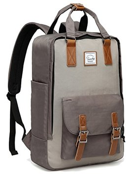 School Backpack,Vaschy Unisex Anti Theft Vintage Water Resistant Bookbag Rucksack For 15in Laptop by Vaschy