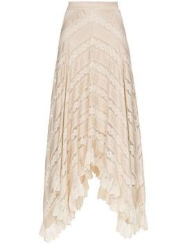unbridled-chevron-panel-skirt by zimmermann