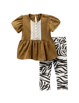 Top & Leggings 2 Piece Set (Baby Girls) by Jessica Simpson