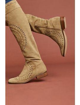 Farylrobin Cutout Knee High Boots by Farylrobin