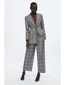 Plaid Culottes  View All Pants Woman by Zara