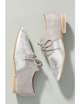 Vanessa Wu Metallic Oxfords by Vanessa Wu