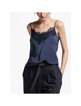 Modern Rarity Silk Lace Cami Top, Blue Steel by Modern Rarity