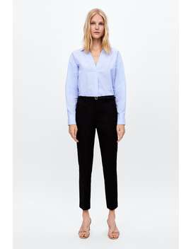 Trousers With Belt  Smart Trousers Woman by Zara