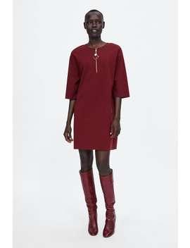 Zip Dress With Ornament Detail  Dresseswoman by Zara