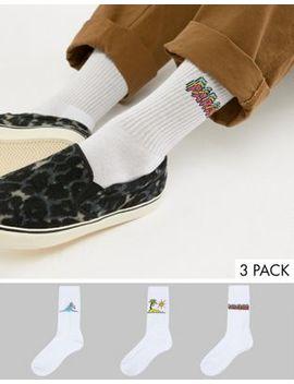 "Asos Design – Sportliche Socken Mit ""Paradise Holiday"" Designs, 3er Pack by Asos Design"