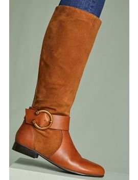 Kiwi Round Buckle Riding Boots by Anthropologie