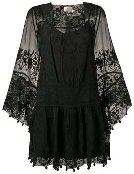 Lace Embroidered Shift Dress by Zimmermann