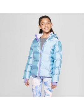 Girls' Iridescent Puffer Jacket   C9 Champion® Purple by Shop All C9 Champion®