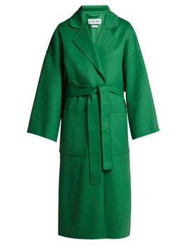 Belted Wool And Cashmere Blend Coat by Loewe