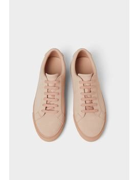 Pastel Pink Sneakers  Shoes Basics Man by Zara