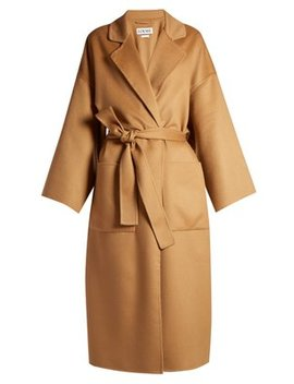Self Tie Wool Coat by Loewe
