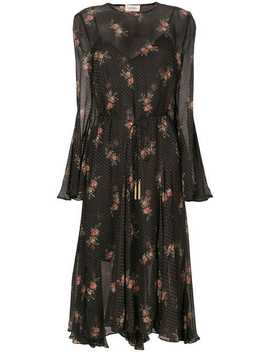 Zimmermannfloral Spotted Long Sleeved Dresshome Women Zimmermann Clothing Day Dresses by Zimmermann
