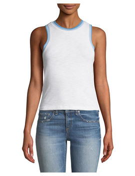 Jolie Cropped Cotton Tank Top by Rag & Bone/Jean