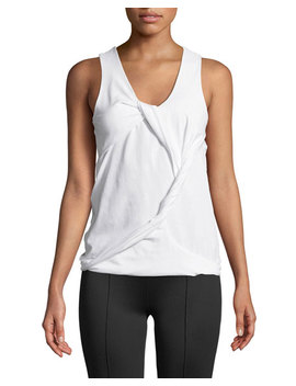 Twisted Drape Scoop Neck Tank by Helmut Lang