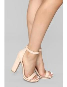 Simply Chic Heel   Nude by Fashion Nova