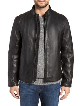 Horace Leather Moto Jacket by Andrew Marc