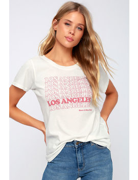 Los Angeles Have A Nice Day White Tee by Lulu's