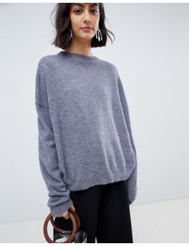 Asos White 100 Percents Cashmere Sweater With Crew Neck by Asos White