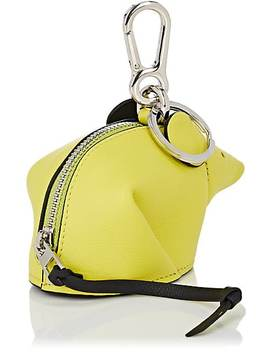 Mouse Leather Coin Purse Key Chain by Loewe