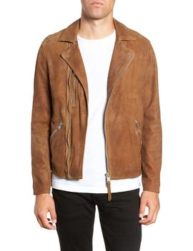 Judd Slim Fit Leather Biker Jacket by Allsaints