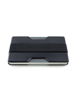 Radix One Slim Wallet   Minimalist Front Pocket Ultralight Polycarbonate Wallet Money Clip   Black/Black by Radix