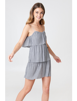 Tie Pleated Dress by Na Kd