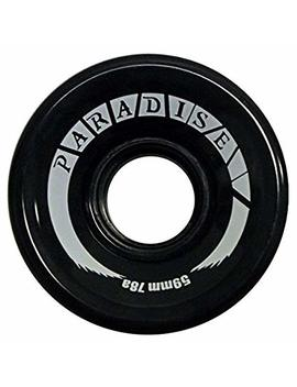 Paradise 59mm 78 A Skateboard Cruiser Wheels   Black   Set Of 4 Wheels by Paradise