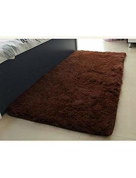 Actcut Ultra Soft 4.5 Cm Thick Indoor Morden Shaggy Area Rugs Pads, Fashion Color For Home Decorate. Size: 2.5 Feet X 5 Feet (Coffee) by Actcut