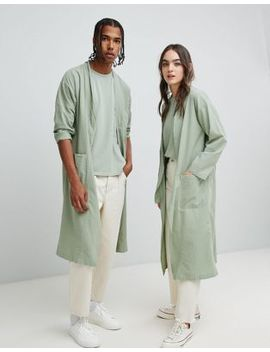 Seeker Kimono Style Lab Coat In Organic Cotton by Seeker