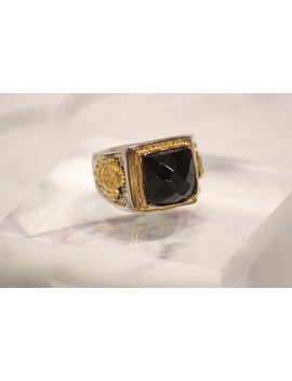 Vintage Statement Ring Black Stone by Strand Road Vintage