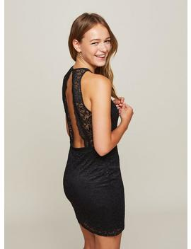 Black Lace V Front Bodycon Dress by Miss Selfridge